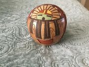 """Collectible Lawrence Namoki Zuni Pot 5"""" Tall X 4.5 """" Wide """"and Justice For All"""""""
