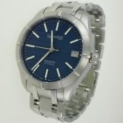 Eberhard And Co Menand039s Watch Aquadate Grande Taille Automatic Stainless Steel Brac