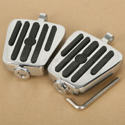 Chrome Male Mount Mini Footboards Pegs Fit For Harley Davidson Sportster Softail