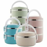 Food Container Storage 1-4 Layer Large Stainless Steel Thermos Adult Lunch Box