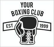 Boxing Gloves Personalised Wall Art - Gym Wall - Bedroom Sticker - Indoor Or Out