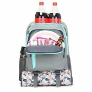 Cooler Backpack Lightweight Zipper Multi Compartments Insulated Shoulder Bags