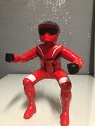 Yamaha Motorcycle Rider 8.5 Inches Tall Toy Biker Red 1980's Vintage Plastic