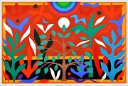 John Coburn Paradise Garden Signed Limited Edition Screen Print Edition Of 99