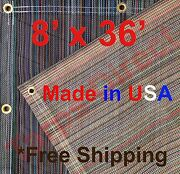 8and039 X 36and039 Vinyl Coated Mesh Tarp 10 Oz Dump Truck Fence Cover Landscape Trailer