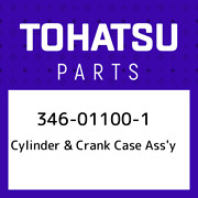 346-01100-1 Tohatsu Cylinder And Crank Case Assand039y 346011001 New Genuine Oem