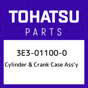 3e3-01100-0 Tohatsu Cylinder And Crank Case Assand039y 3e3011000 New Genuine Oem