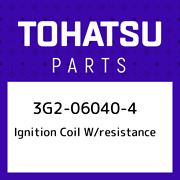 3g2-06040-4 Tohatsu Ignition Coil W/resistance 3g2060404, New Genuine Oem Part