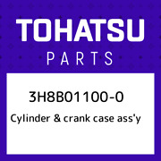 3h8b01100-0 Tohatsu Cylinder And Crank Case Assand039y 3h8b011000 New Genuine Oem