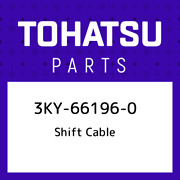 3ky-66196-0 Tohatsu Shift Cable 3ky661960 New Genuine Oem Part
