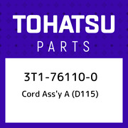 3t1-76110-0 Tohatsu Cord Assand039y A D115 3t1761100 New Genuine Oem Part