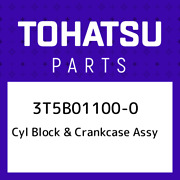 3t5b01100-0 Tohatsu Cyl Block And Crankcase Assy 3t5b011000, New Genuine Oem Part