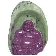 Ruby And Zoisite Buddha Carving