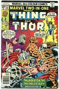 Marvel Two-in-one 22 1976- Rare Uk Pence Variant- Thing- Thor Vg
