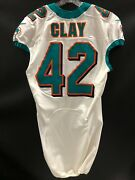 42 Charles Clay Miami Dolphins Game Used White Authentic Nike Jersey Full Pack