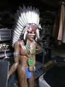 Woodenindian Squaw Chief Cigar Store Indian