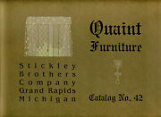 Stickley Brothers Quaint Furniture Catalog 42 1914 - New/direct From Publisher