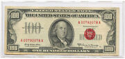 1966a 100 United States Legal Tender Note Red Seal Fr 1551