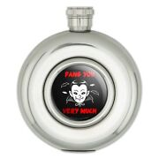 Fang Thank You Very Much Vampire Funny Humor Round Stainless Steel 5oz Hip Flask