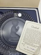 Goebel Germany Hummel Annual Crystal Glass Plate 1979 Praying Boy Collectible