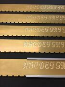 Indexable Alphabet Upper Case Script Brass Strip For New Hermes For Our Fixture