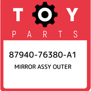 87940-76380-a1 Toyota Mirror Assy Outer 8794076380a1 New Genuine Oem Part