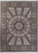 Wool And Silk Oriental Handmade Rug 9and039 X 12and039 Ivory Dome Gonbad Fine Quality Rug