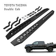 Side Step For 05-19 Toyota Tacoma Double Cab Running Boards Nerf Bar Black