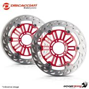 Pair Of Front Floating Discs Discacciati Light 310 Red Kawasaki Zx9r 00