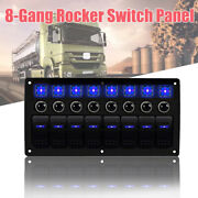 8 Gang Waterproof Car Auto Boat Marine Led Rocker Switch Panel Circuit Breakers