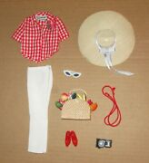 Japanese Exclusive Francie Picnic Outfit 2206 Red And White Version
