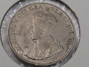 1924 Canadian Five Cent Nickel Coin. 5c. Canada. Better Grade- Full Crown. 25