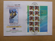 2000 Australian Olympic Gold 470 Sailing King And Turnbull Stamp Sheet Fdc