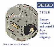 Movement New Seiko Caliber 7 T 32 Chrono Alarm Very Hard To Find Watch Part