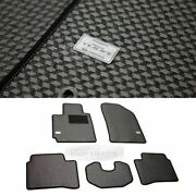Tuon Oem Parts Carbon Style Metal Rubber Floor Mats 5p For Kia 2011 - 16 Picanto