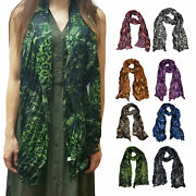 6 Pcs Pleated Scarves For Women Girls Animal Fashionsolid Assorted Color