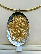 Signed Quadri 18k Wire Design With Matching Omega Necklace Marked Italy