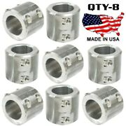 8 Steel Universal Weld On Roll Bar Clamp 1.25 Bar Cage Fabrication Cooler Mt 4b