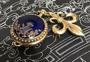 18 K Solid Gold Leroy And Fils Art Nouveau Pocket Watch Working
