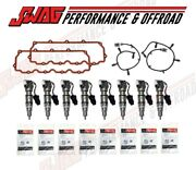 05-07 Ford Powerstroke 6.0l Injectors Valve Cover Gaskets And Oem Glow Plugs
