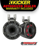Kicker 44kmtc114 11 Horn Tower Speakers With Led Grilles - Black