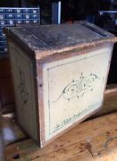 Primitive Antique Carriage Tool Box Chest Collett Carriage Works Folk Art Box