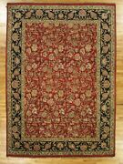 9and039 X 13and039 English Garden New Indian 9/9 Quality Red Jaipur Wool Handmade Rug