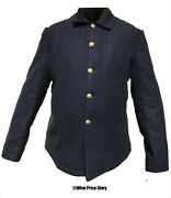 Us Army Blue Wool 5-button Blouse Sack Coat Size 44 Wool Lined Indian Wars Saw