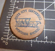 Wood Nickel From Sioux City Iowa Centennial 1854-1954, 7.5 Cents, July 1954