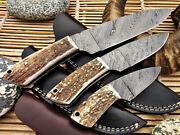 Stag Antler Handles Custom Fixed Blade Knives