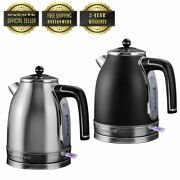 Ovente Electric Stainless Steel Hot Water Kettle 1.7 Liter Ks777 Series