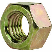 2-12 Grade 8 Finished Hex Nuts Yellow Zinc Plated Steel Qty 50