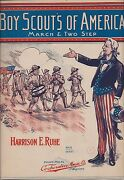 Boy Scouts Of America March And Two Step By Harrison E. Ruhe 1911