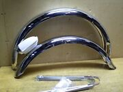 Schwinn Panther 26 Bicycle Balloon Tire Chromed Fender Set And Rocket Ray Light